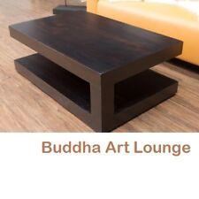 Couchtisch Walnuss 110x70x40 Holz Massiv Sheesham Tisch Wohnzimmertisch Bali Neu