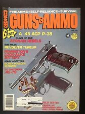 GUNS & AMMO June 1980 Guns of the Afghanistan Rebels Walther P38 .45 ACP