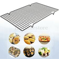 Nonstick Oven Cooker Cooling Grill Pan Grid Rack Shelf Mesh Food Stand 40 x 25cm
