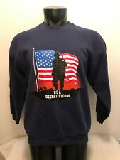Vintage USA Desert Storm Military Sweatshirt Mens Large Made in USA
