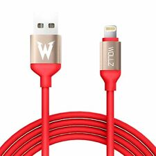 2 Lightning Cable 5ft 1.5M Heavy Duty USB Cord Apple iPhone X 8 7 6 5 Red