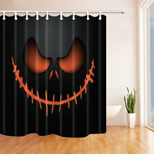 Halloween ghost Waterproof Polyester-Fabric Shower Curtain & 12hooks 71*71inch