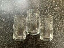 More details for theresienthal connoisseur tumblers set of 3  handgravour crystal bavari