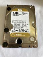 """WD Gold WD2005FBYZ 2TB 128MB 7200 RPM SATA Enterprise Hard Drive 3.5"""""""
