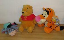 Disney Winnie the Pooh Soft Plush toys. Tigger hand puppet, Winnie & Eeyore