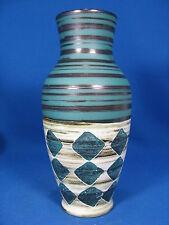 Beautyful glazed 60´s west german design ceramik vase 118  20 unknown maker