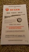 Ruger Mini Thirty Rifle Owners Manual