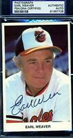 EARL WEAVER SIGNED PSA/DNA ORIOLES TEAM ISSUED PHOTO CERTIFIED AUTOGRAPH