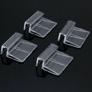4x Aquarium Fish Tank Plastic Clips Glass Cover Strong Support Holders Gif N2S4