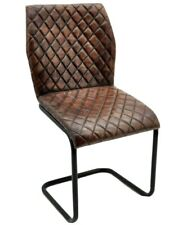 The Trent Brown Leather Dining Chair
