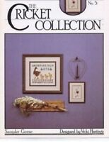 Cross Eyed Cricket SAMPLER GEESE for Counted Cross Stitch No. 5 Hastings 1983