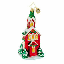 2018 Christopher Radko 'christmas Cathedral' Glass Church Ornament 1019468