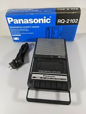 Panasonic RQ-2102 Slimline Portable Audio Cassette Player Recorder w/ Box TESTED