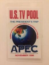 1996 President Bill Clinton U.S. TV POOL Press Pass Philippines Australia APEC