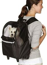 East Side Coll On the Go Rolling Backpack Blk- ZA5257-17 Pet Carrier NEW