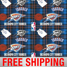 "Oklahoma City Thunder Fleece Fabric NBA Style OKC-5004 60"" Wide Free Shipping"