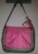 Messenger Bag - IPack Tech IPod Integrated Smart Fabric Interface Pink/Gray