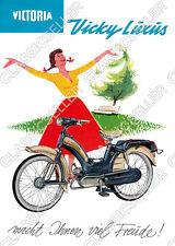 Victoria Vicky Luxus Moped Poster Plakat Bild Affiche Schild Reklame Kunstdruck