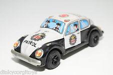 Y YONE JAPAN TINPLATE BLECH VW VOLKSWAGEN BEETLE KAFER POLICE EXCELLENT