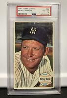 """1964 TOPPS GIANTS BASEBALL """"MICKEY MANTLE"""" HOF PSA 4 VG-EX #25 NEW YORK YANKEES!"""
