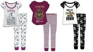 Women Ladies Character Harry Potter Pyjamas PJs Hogwarts Nightwear Maroon