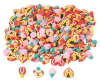 Pack of 24 - Mini Carnival Circus Erasers -  Teacher Rewards
