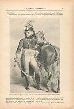 Napoléon Bonaparte Général Kléber Ruines de Thèbes Egypte GRAVURE OLD PRINT 1914
