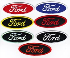 FORD SCRIPT SEW/IRON ON PATCH EMBROIDERED MUSTANG FALCON TORINO MAVERICK V8 CAR