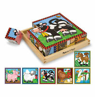 Melissa and Doug Farm Cube Puzzle - 10775 - NEW!