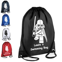 PERSONALISED Drawstring Bag LEGO DARTH VADER School Gym Kit PE Boys Kids Gift