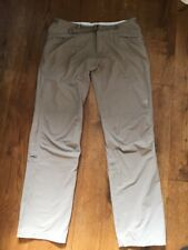 NORTH FACE WOMENS STRETCHY WALKING PANTS BEIGE TROUSERS UK 10 VERY LIGHTWEIGHT