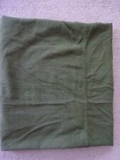 VINTAGE BROOKS WOOLEN MILLS US ARMY ISSUE 100% WOOL GREEN BED BLANKET Nice #01