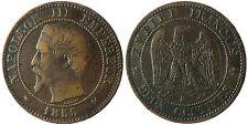 NAPOLEON  III  ,  2  CENTIMES  TÊTE  NUE ,  1855  B  ROUEN  ,  CHIEN