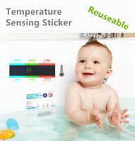 Baby bath themometer Sticker LCD water temperature meter Multi-Language