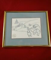 Disney 97' Special Edition Beauty & The Beast The Enchanted Christmas Lithograph