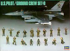 Hasegawa 1/48 U.S. Pilot/Ground Crew Set: B # X4805
