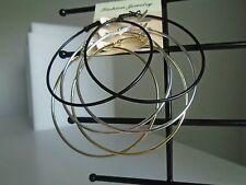 Earring 3 Pairs 1 Low Price - Silver, Gold & Black Hoops  - Hoop for All Seasons