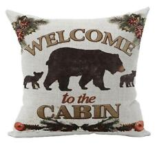 Pillow Cover Decorative Cushion Cabin Rustic Bear Wildlife Cabin Lodge Gift New