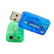 USB 2.0 3D Audio Sound Karte Adapter EXTERN