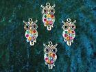 Tibetan Silver Large Owl Pendants