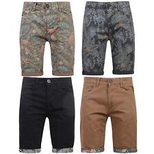 Crosshatch Mens Chino Shorts Denim Cotton Smart Casual Summer Holiday Half Pant