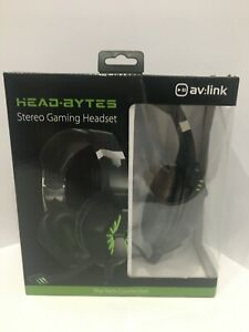 NEW HEAD-BYTES STEREO GAMING LED Headset with Noise Cancelling Volume Control
