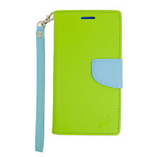 Samsung Galaxy Note 5 Leather 2 Tone Wallet Case Pouch Flip Cover + Screen Guard