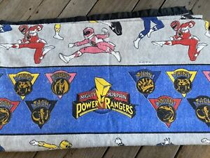 Vintage 1994 Power Rangers Blanket