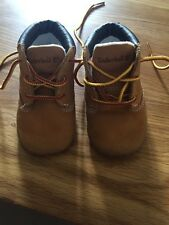 Timberland Childrens Leather SiZe 1.5 Pram Boot Shoes Lace Up Tan