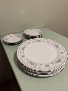 American Limoges China Salem Heritage BRIDAL BOUQUET 4 Dessert, 4 Plates, 2 Sauc