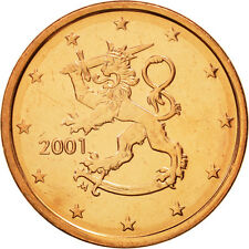[#463016] Finlande, 5 Euro Cent, 2001, FDC, Copper Plated Steel, KM:100