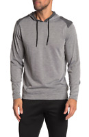 BURNSIDE Colorblock Paneled Pullover Hoodie, Heather Charcoal, XL - ($44)