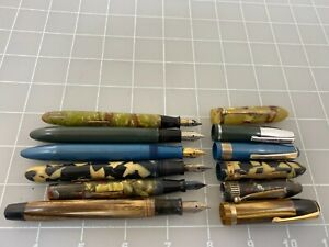Judd's Lot of 6 Vintage Fountain Pens for Repair or Parts