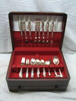Set 1847 Rogers Springtime Silverplate Flatware 52 pcs svc for 8 w/Box